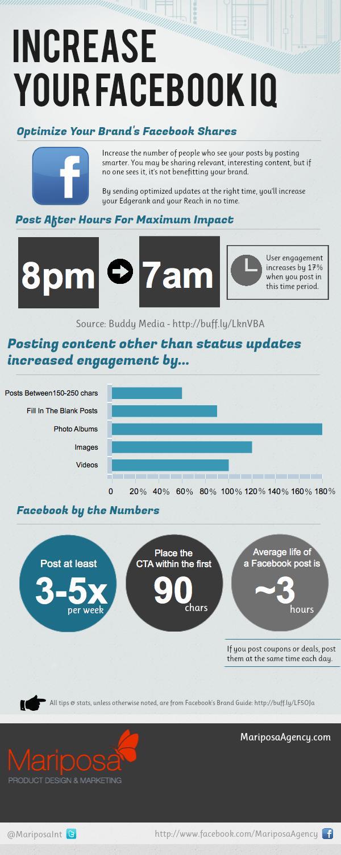 Cómo incrementar el alcance de tu FaceBook #infografia #infographic #socialmedia