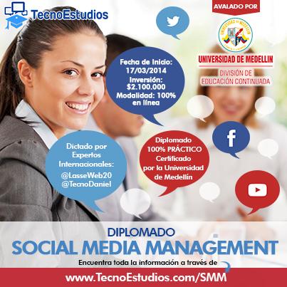 Diplomado de Social Media Management Avalado por Universidad Internacional